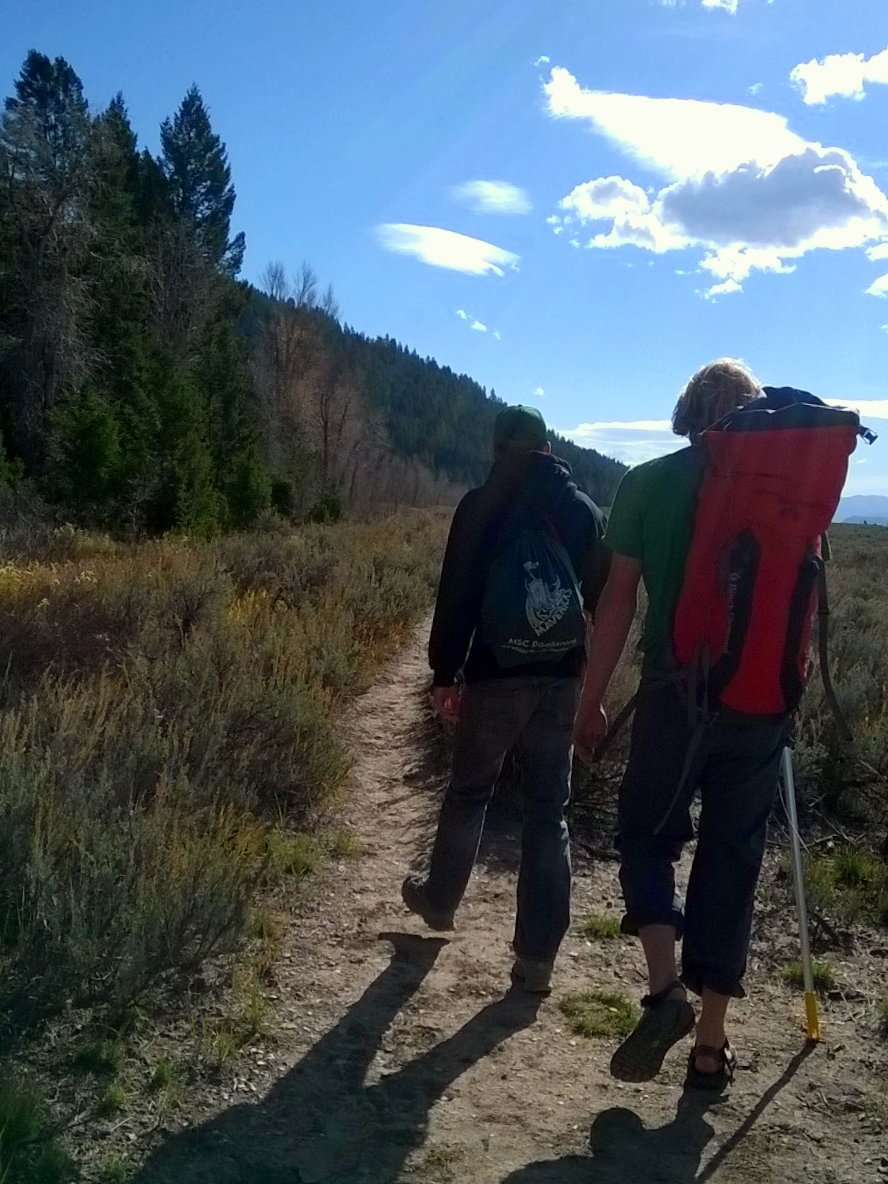 Walking to Upper Blacktail Butte