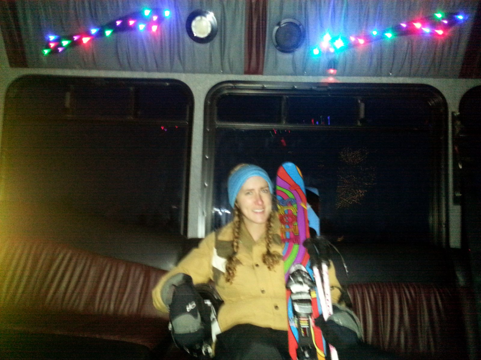 Lindsey in the rach lot bus