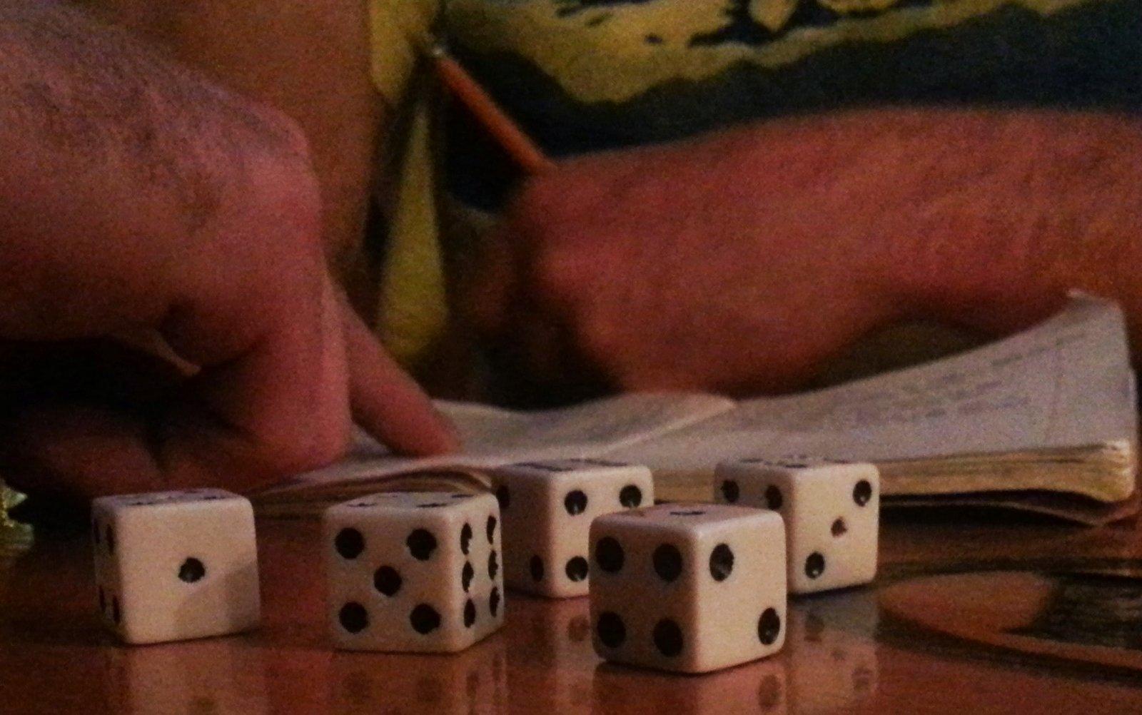 Playing Yahtzee