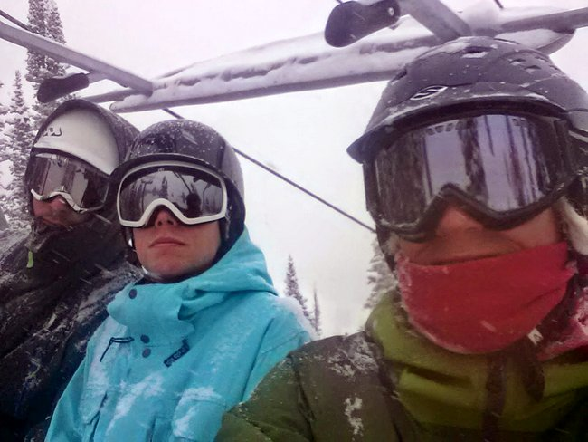 Skiing with Reid & Greg