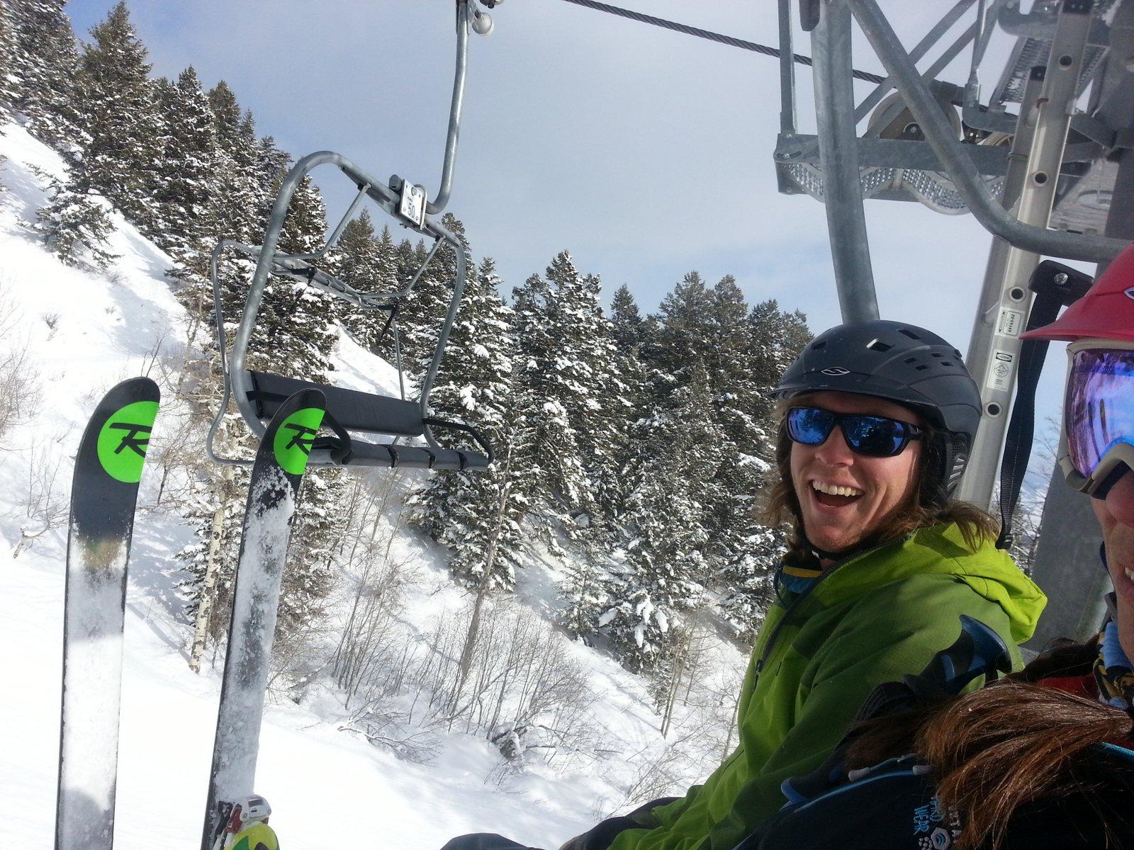 Matt with skis