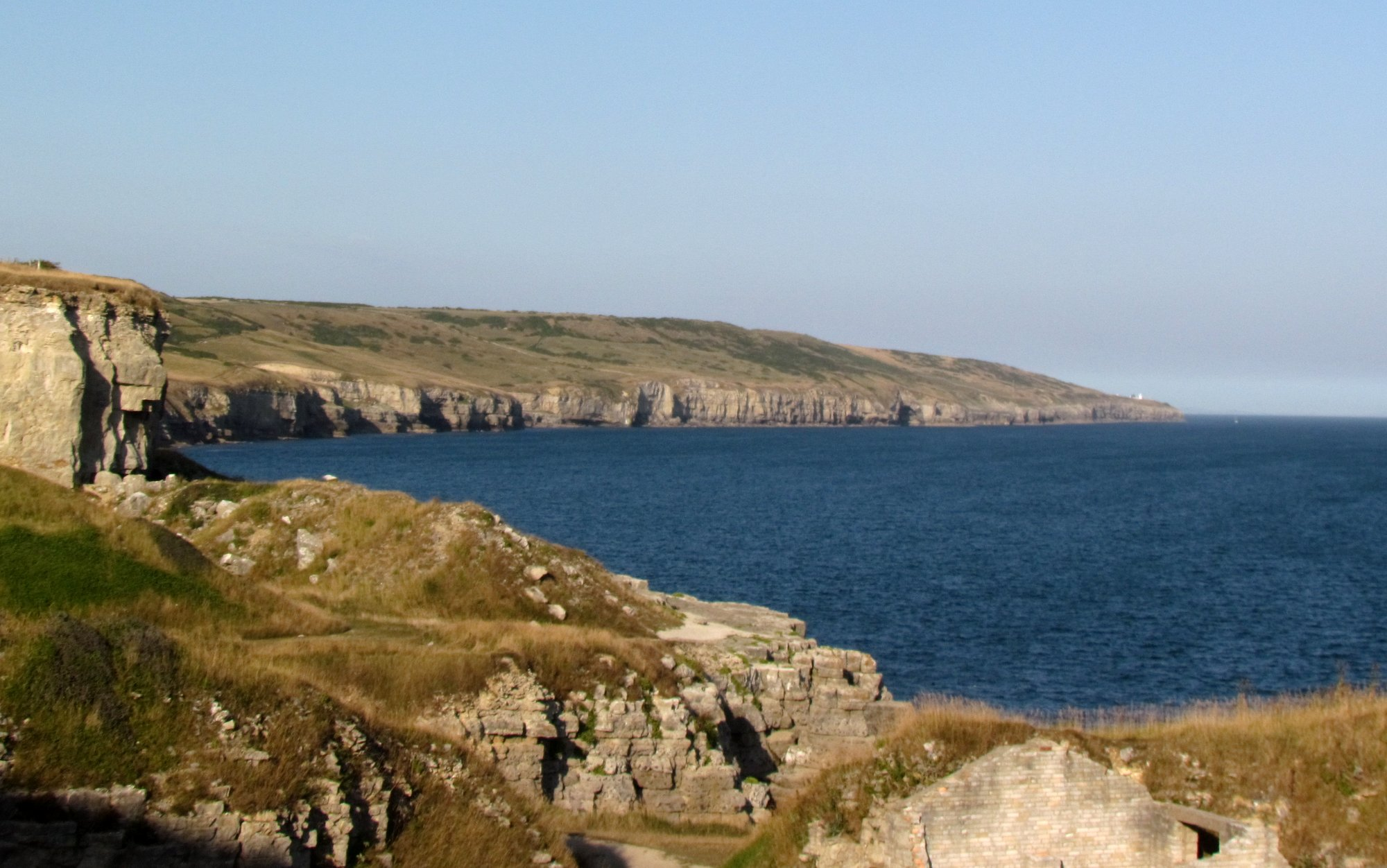 Dancing Ledge from Winspit Quarry