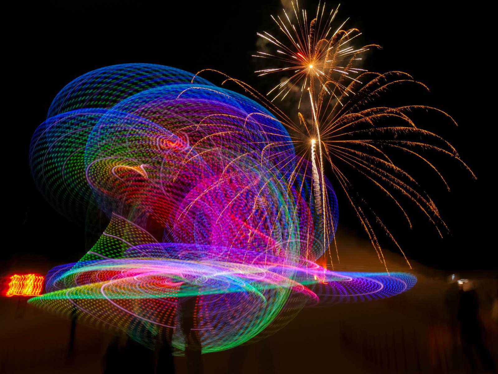 Fireworks landscape