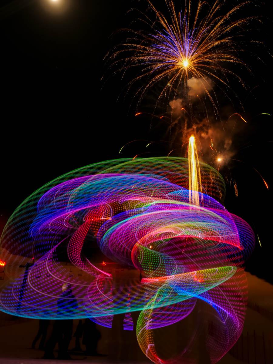 Fireworks portrait