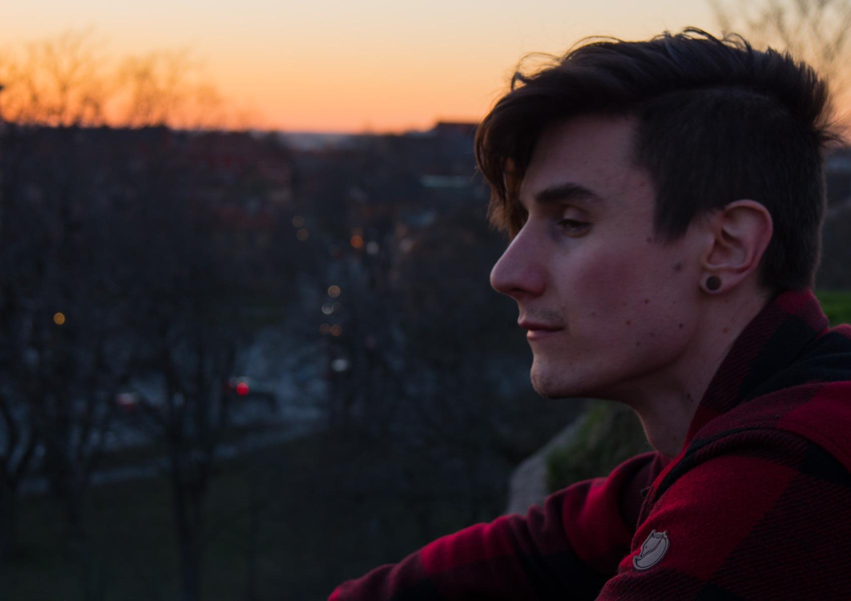 Erik in the sunset