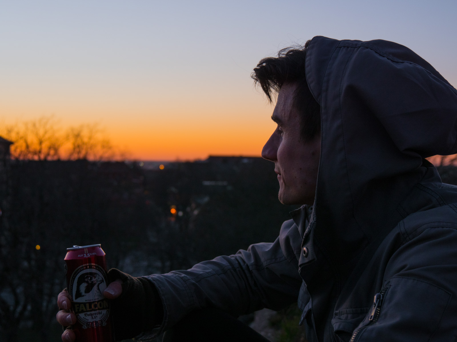 Erik in the sunset again