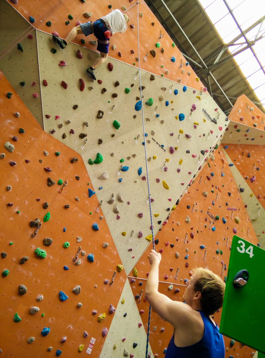 Matt and Ryan climbing