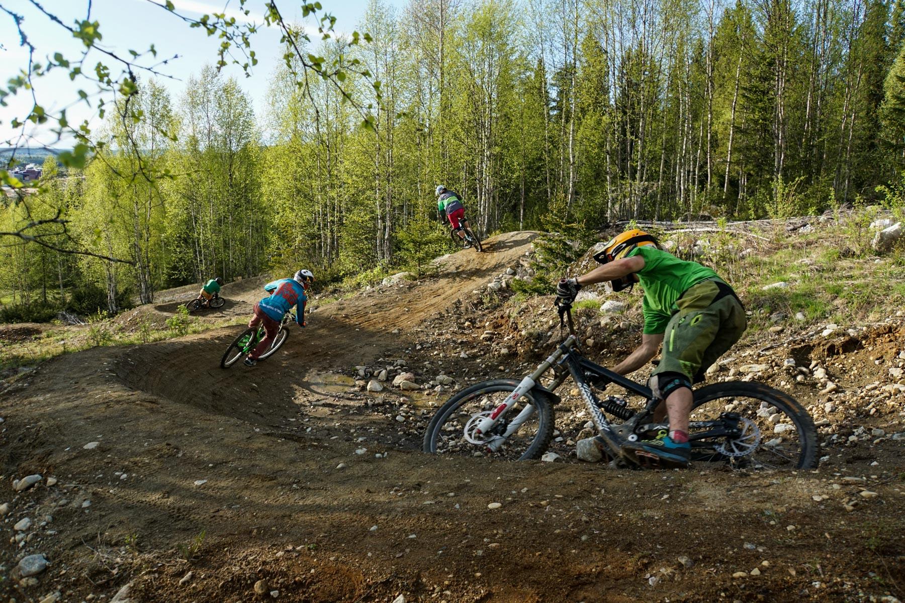 4 bikes at Bygdsiljum
