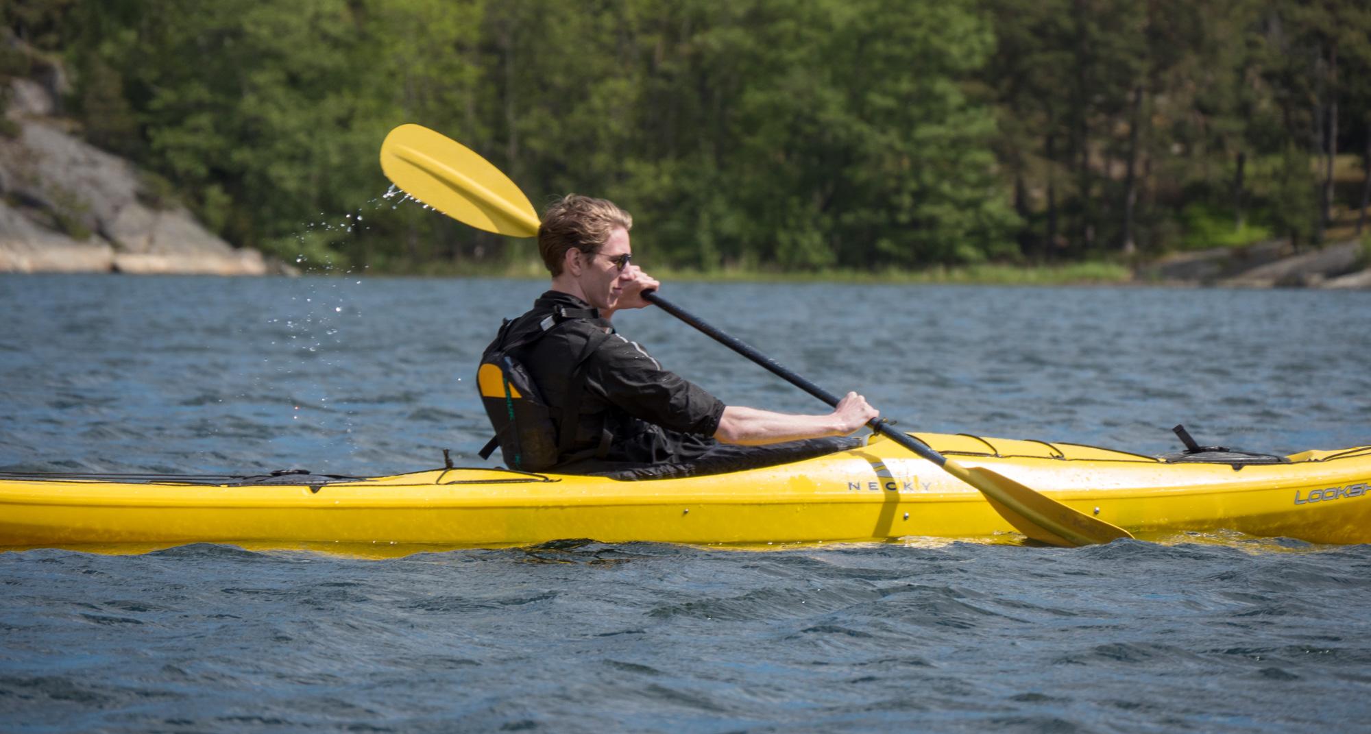 Kayaking sideshot