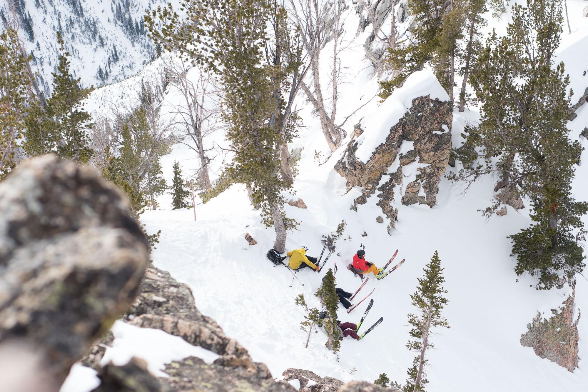 Skiers waiting
