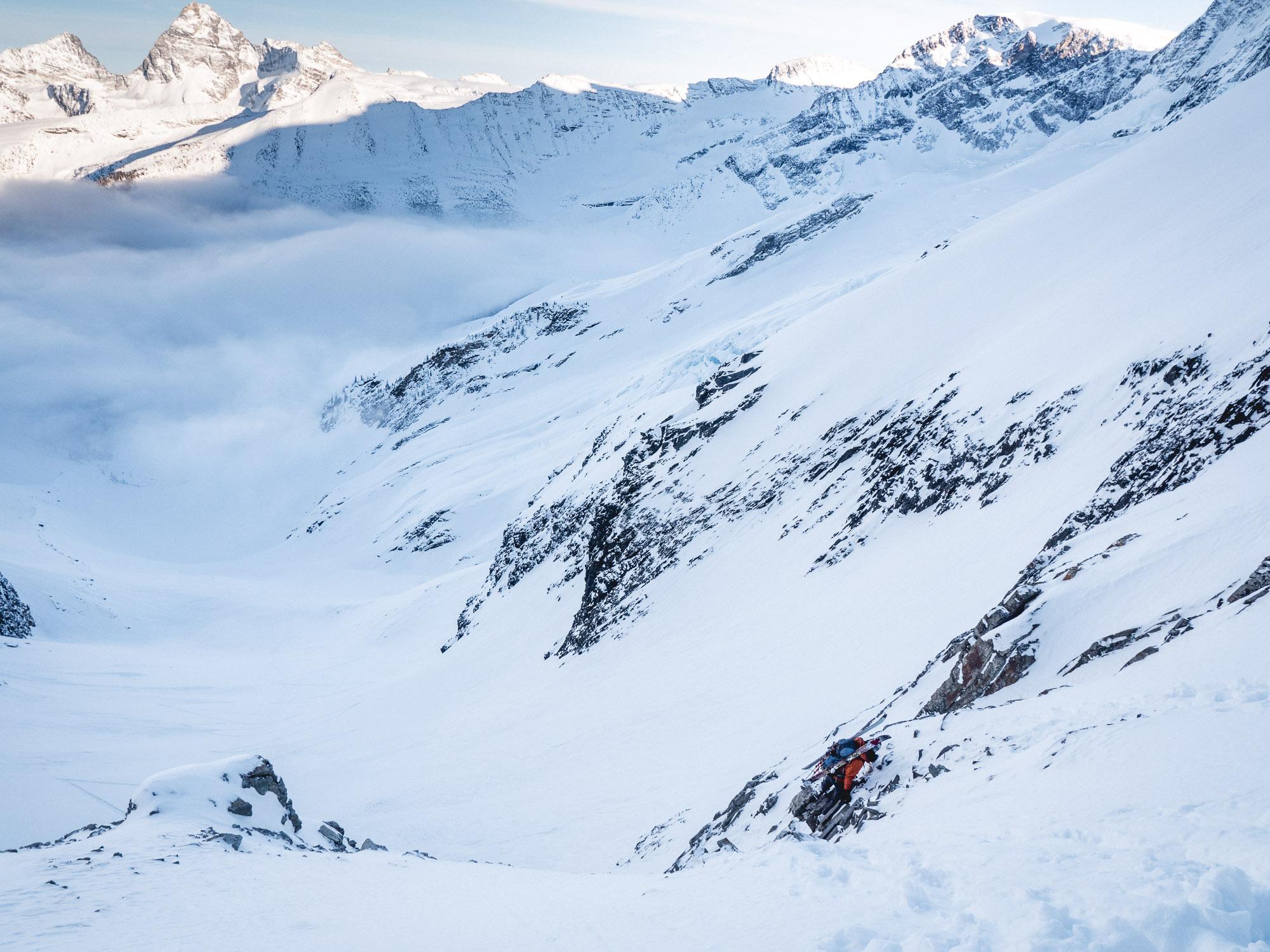 Climbing peak in the upper left