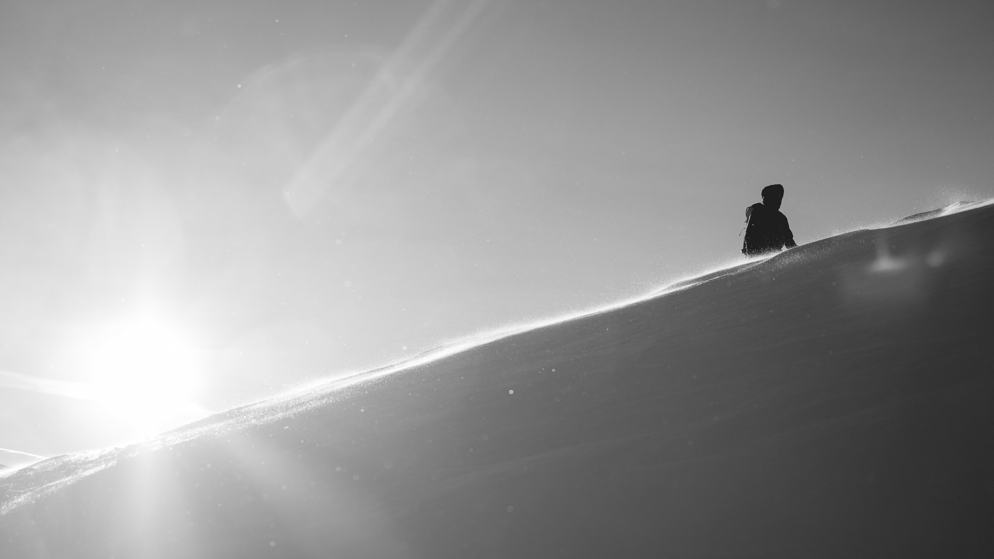 B&W Ridge snow