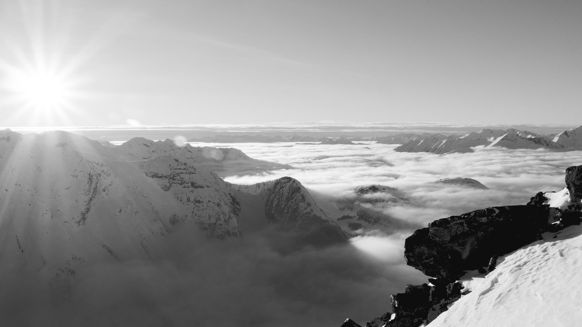 Monochrome cloudscape
