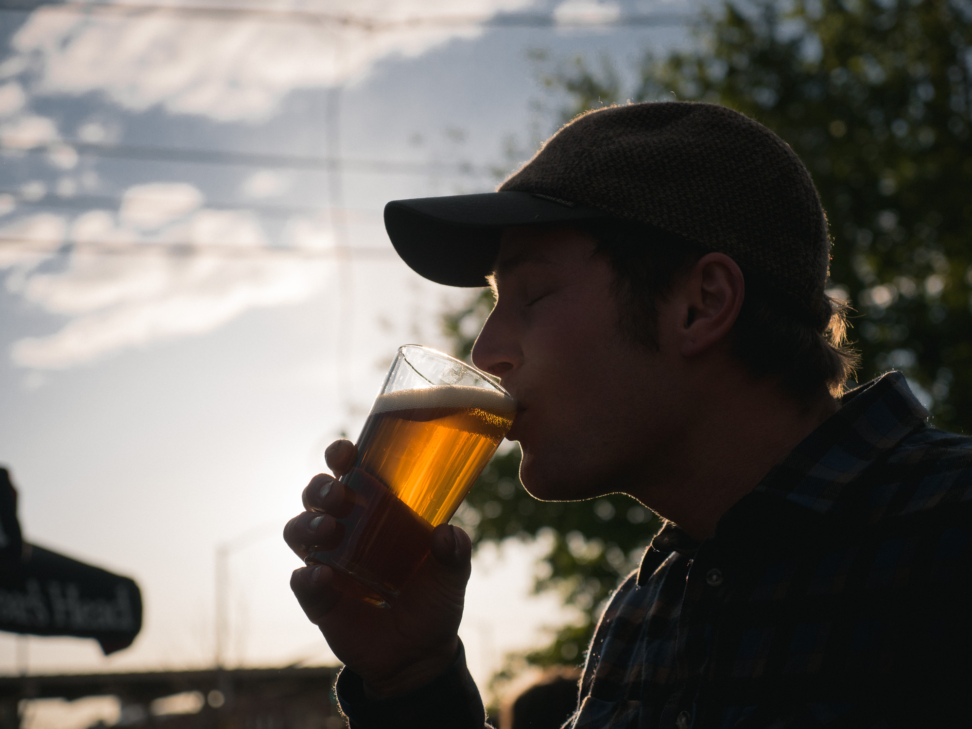 Nate and a beer