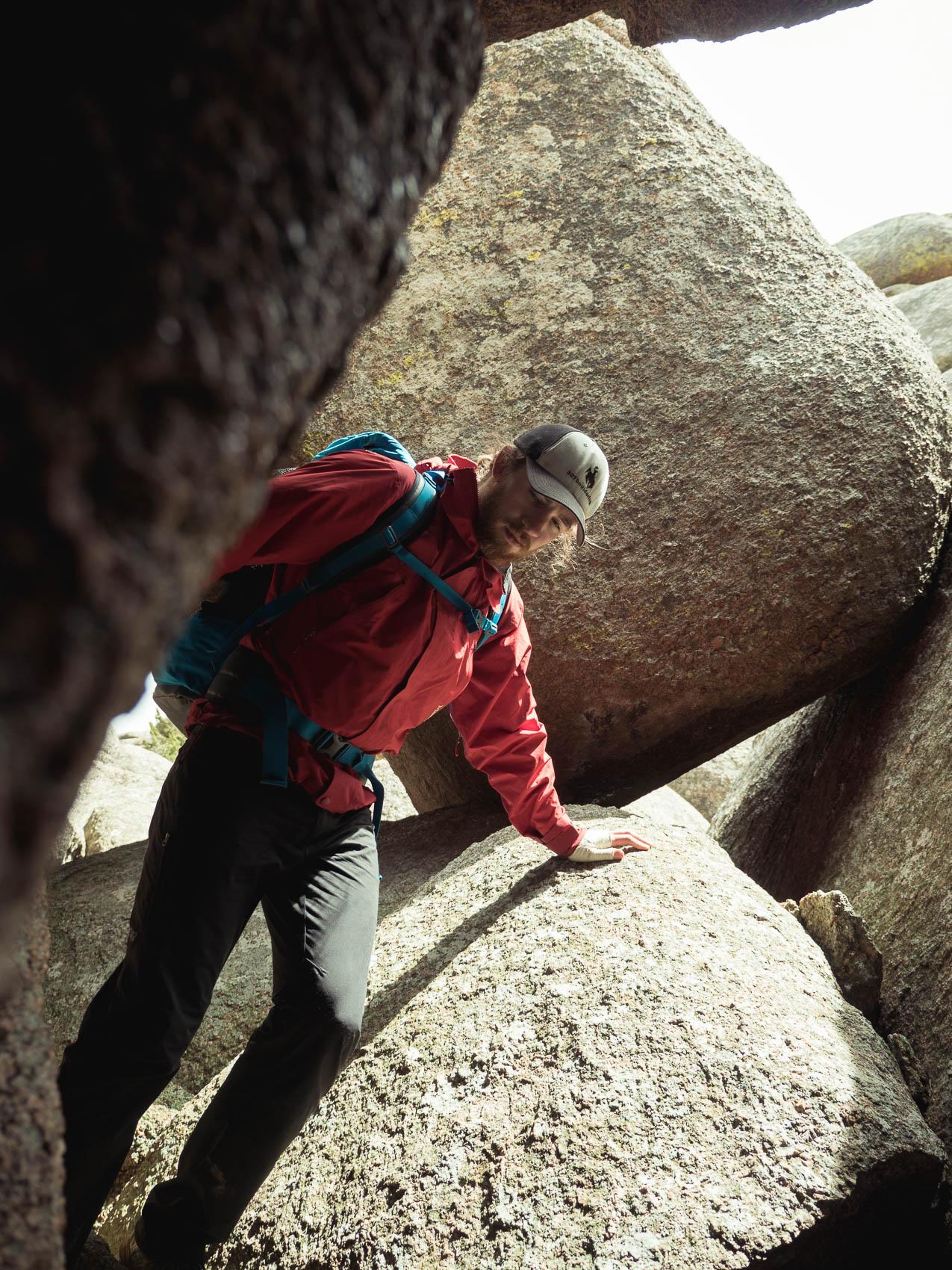 ken in a rock cave