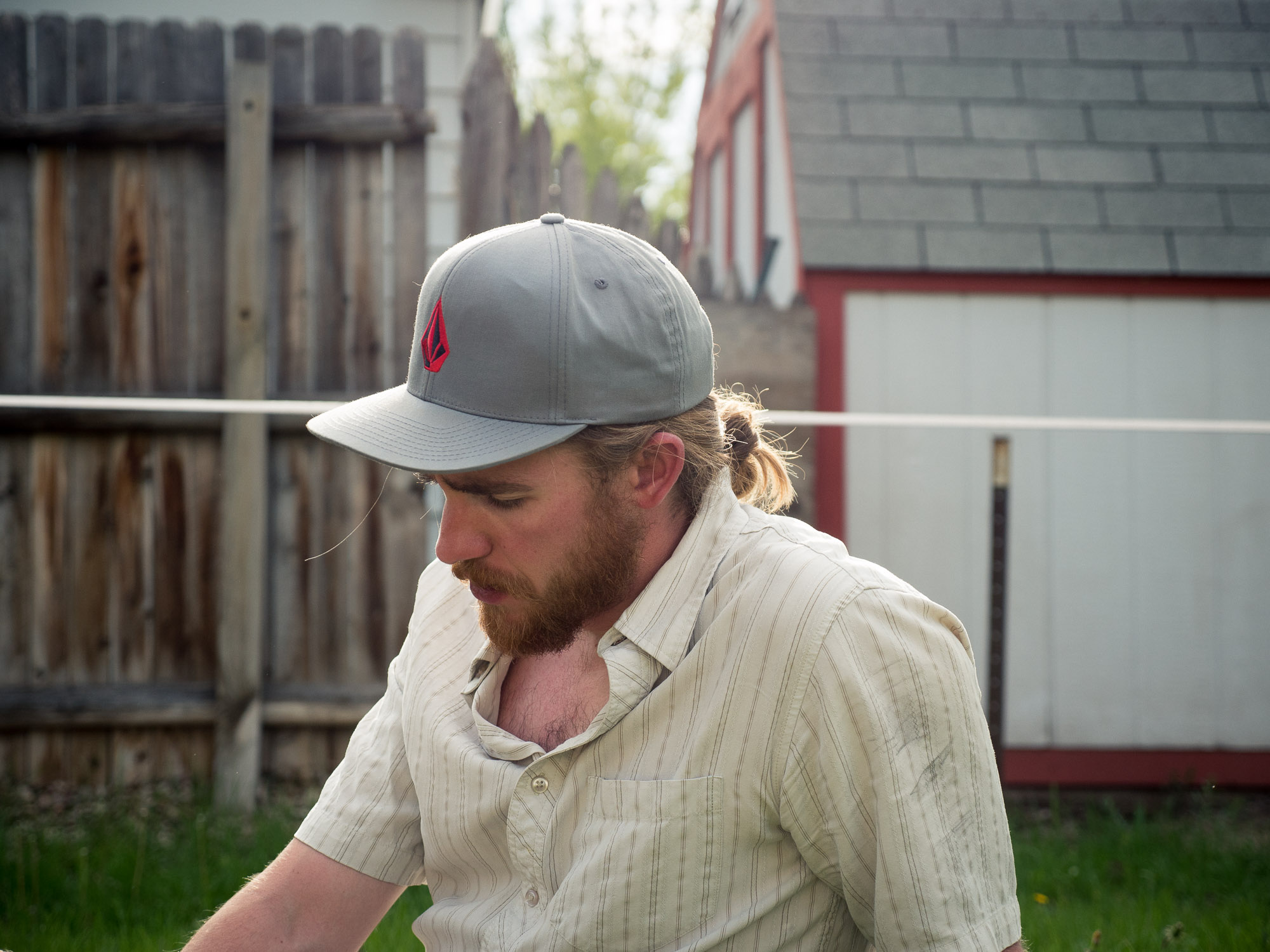KH in the backyard