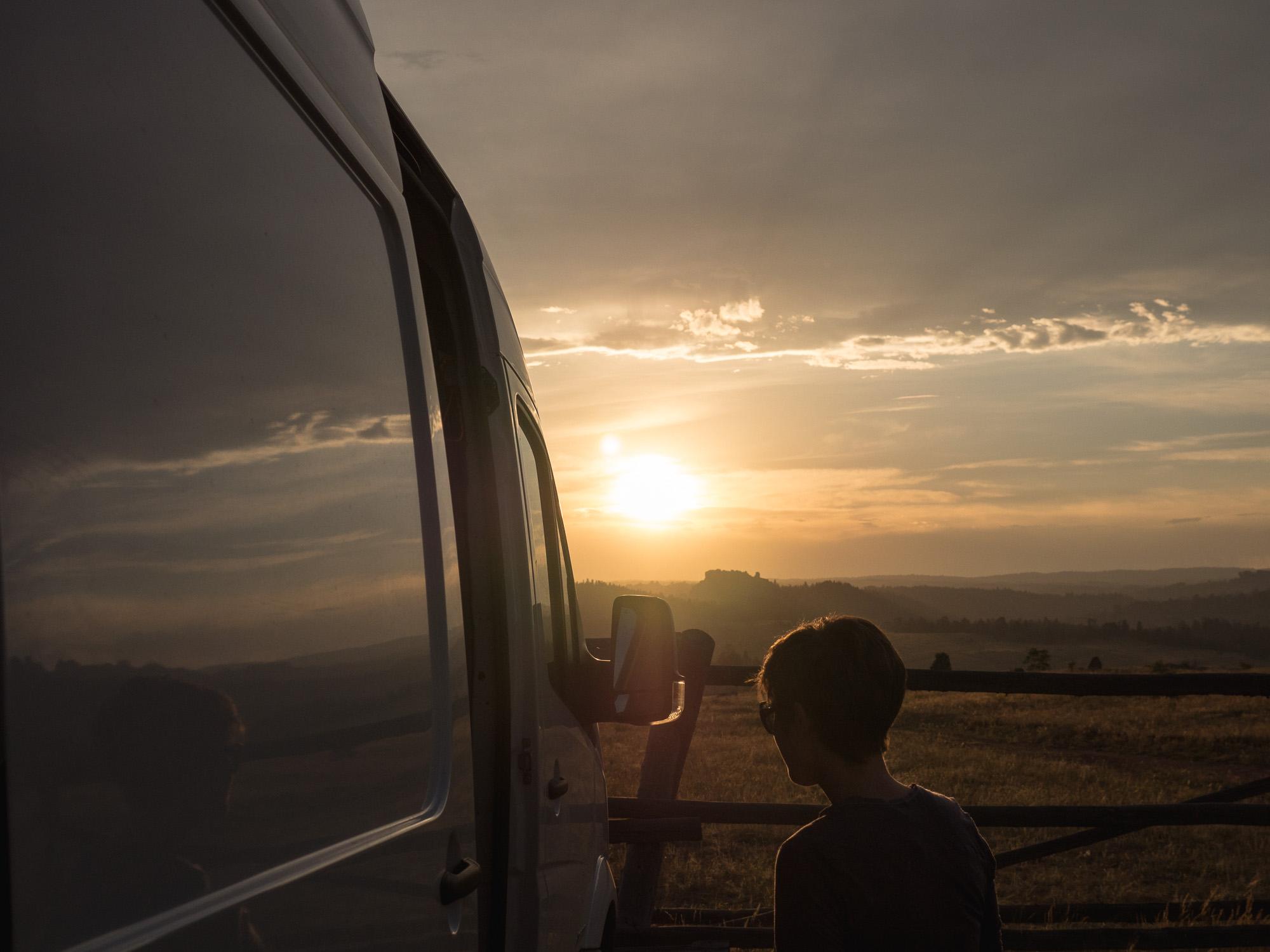 Van sunset