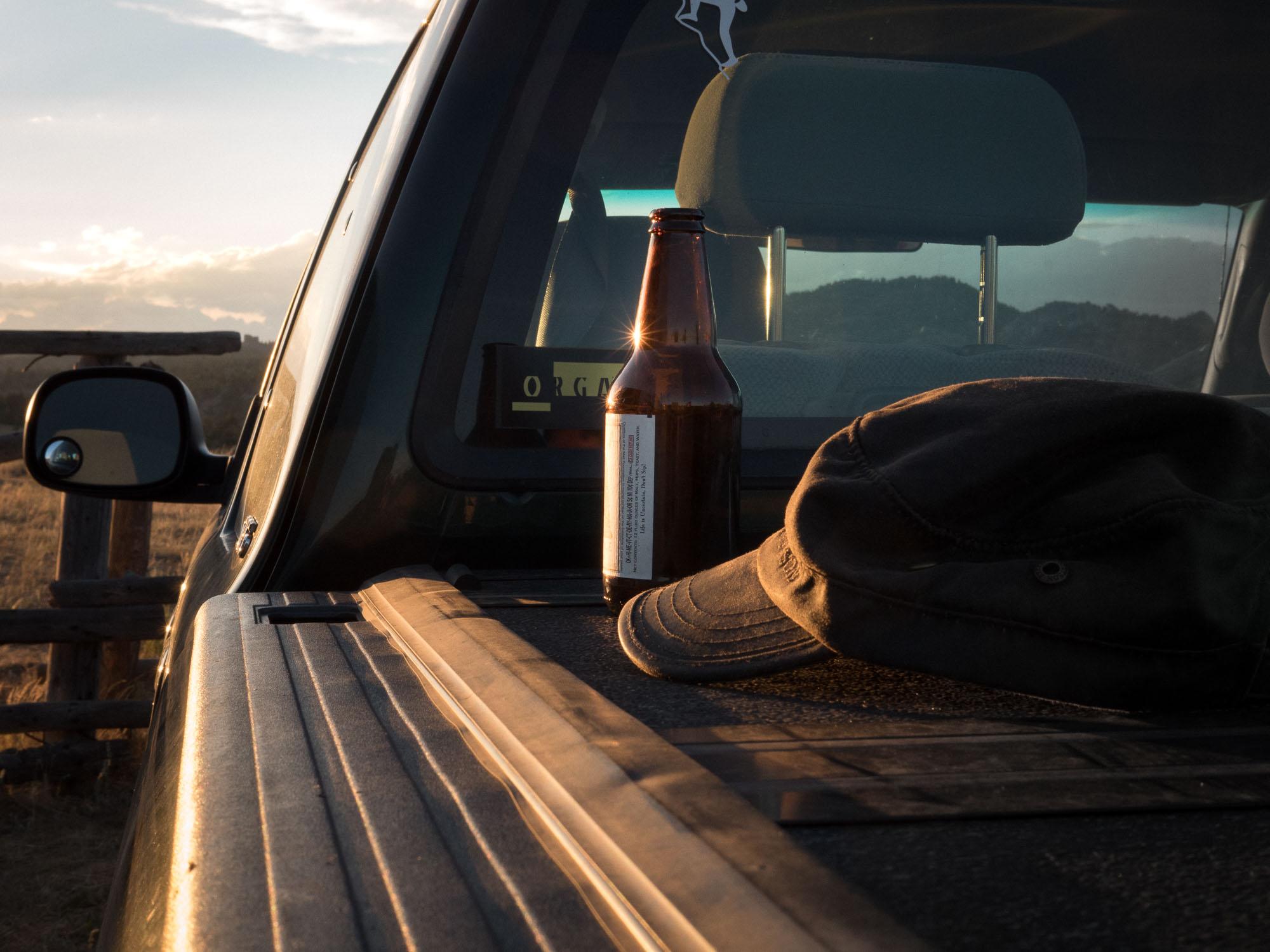 truck beer hat