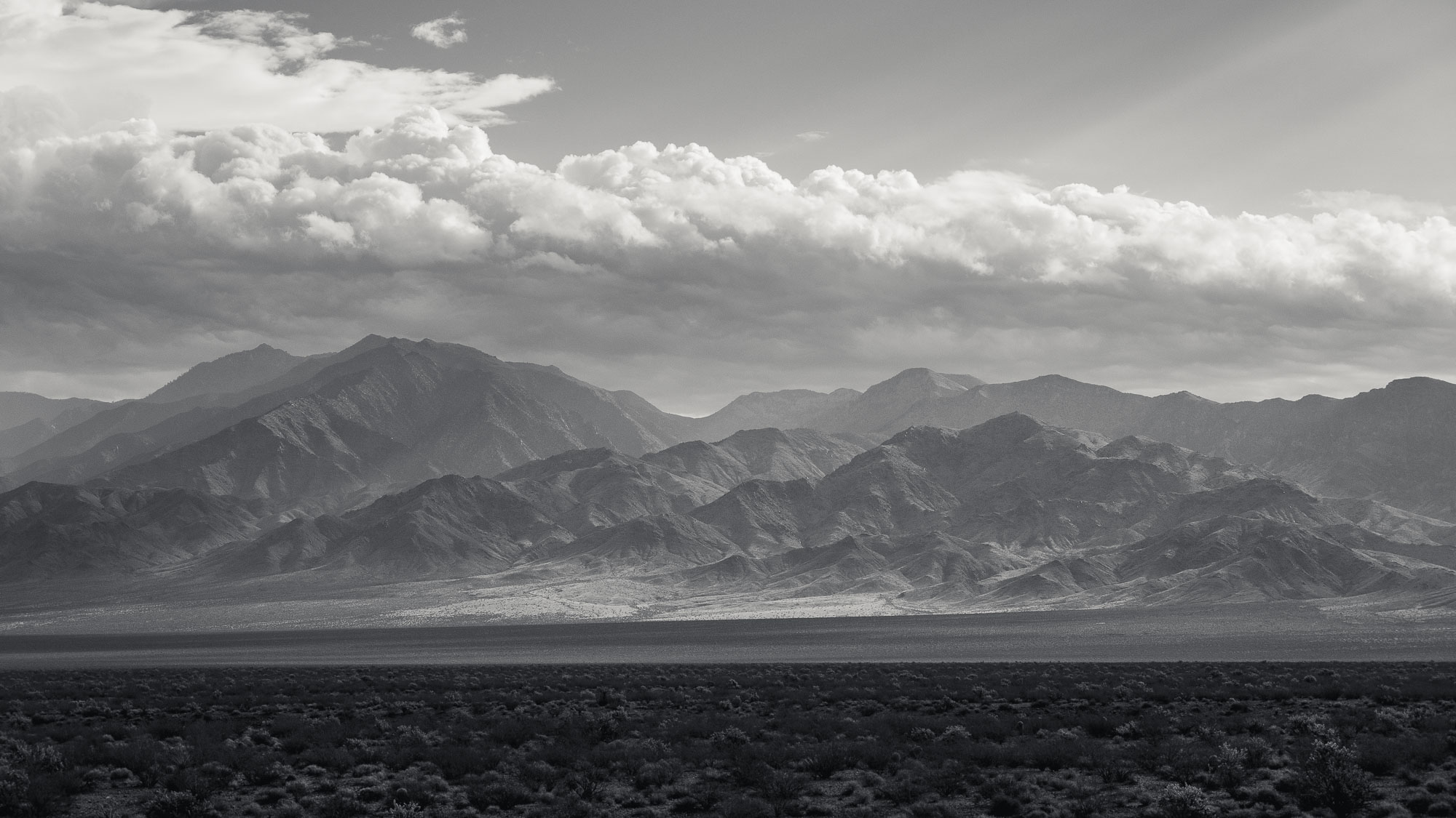 bw virgin mountains