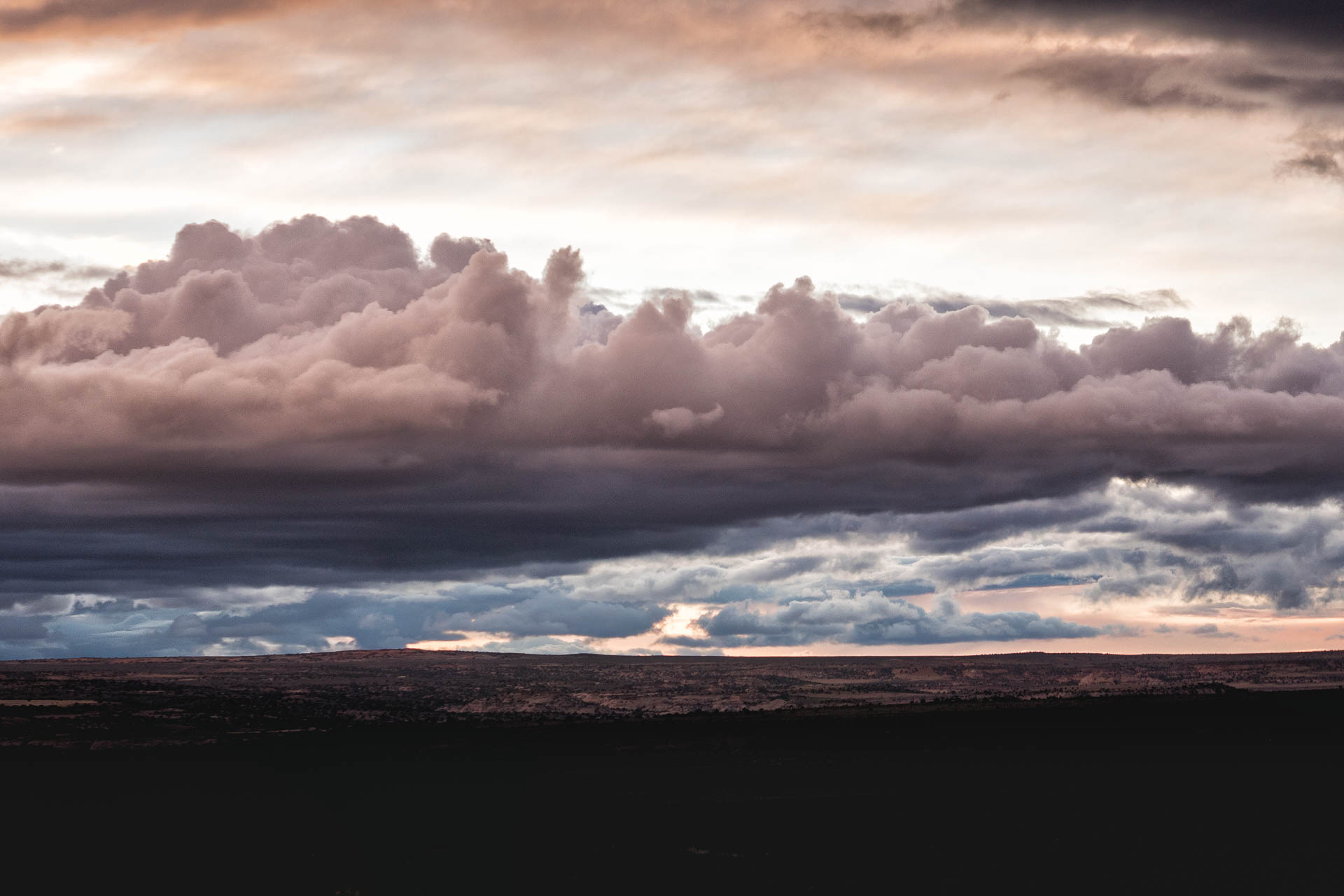 clouds over the desert