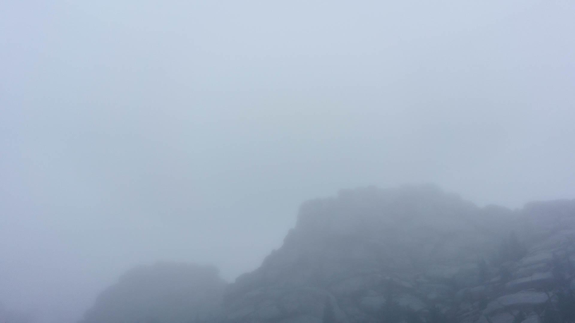 Vedauwoo, fogged